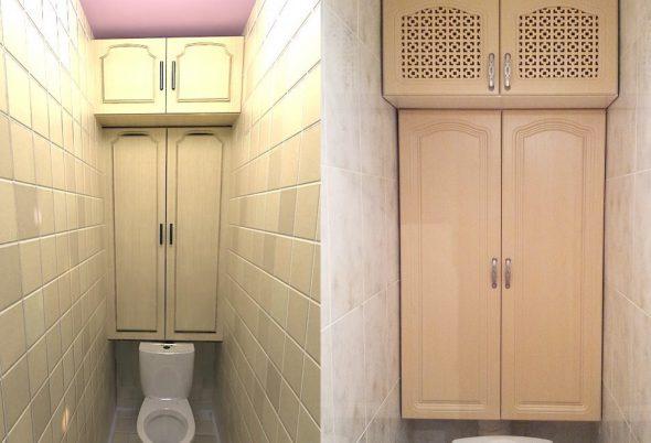 Антресоли в туалете