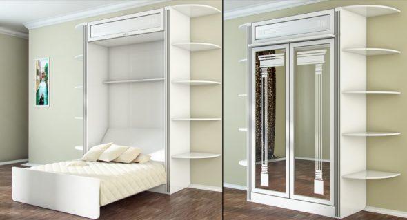 шкаф кровать с зеркалом
