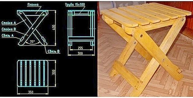 Как своими руками сделать складной стул