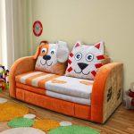 Детский раскладной диван Кот и Пес
