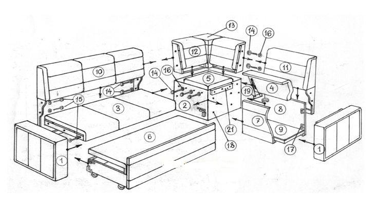 Изготовление диванов своими руками чертежи