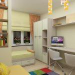 Дизайн узкой детской для девочки