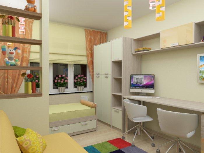 Как расположить мебель в детской комнате для