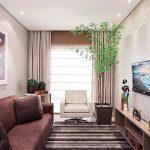 Дизайн узкой гостиной фото