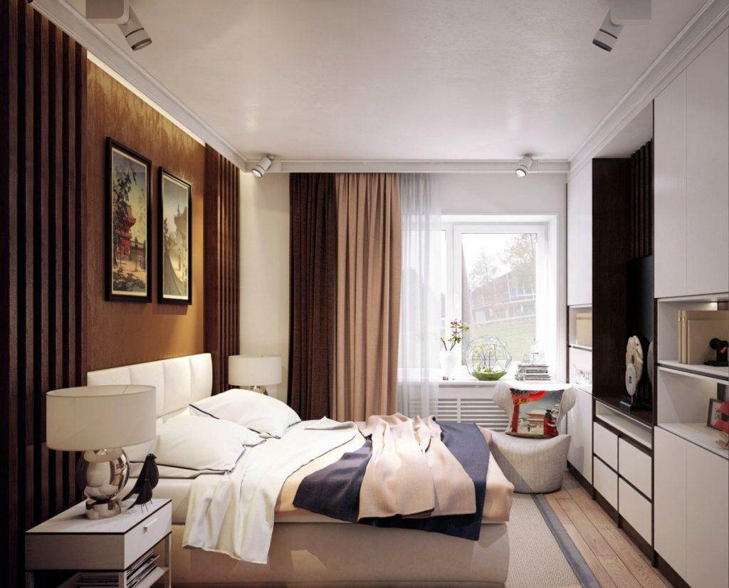 Современный дизайн спальной комнаты 13 квм