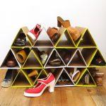 обувница в прихожую из картона