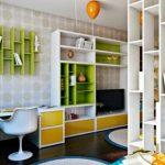 Книжный шкаф-перегородка в дизайне