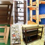 Конструкции деревянных этажерок
