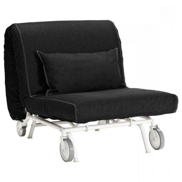 Кресло-кровать черного цвета