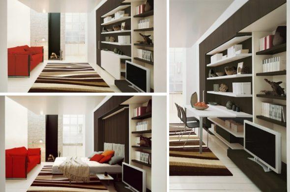 Кровать с рабочей зоной