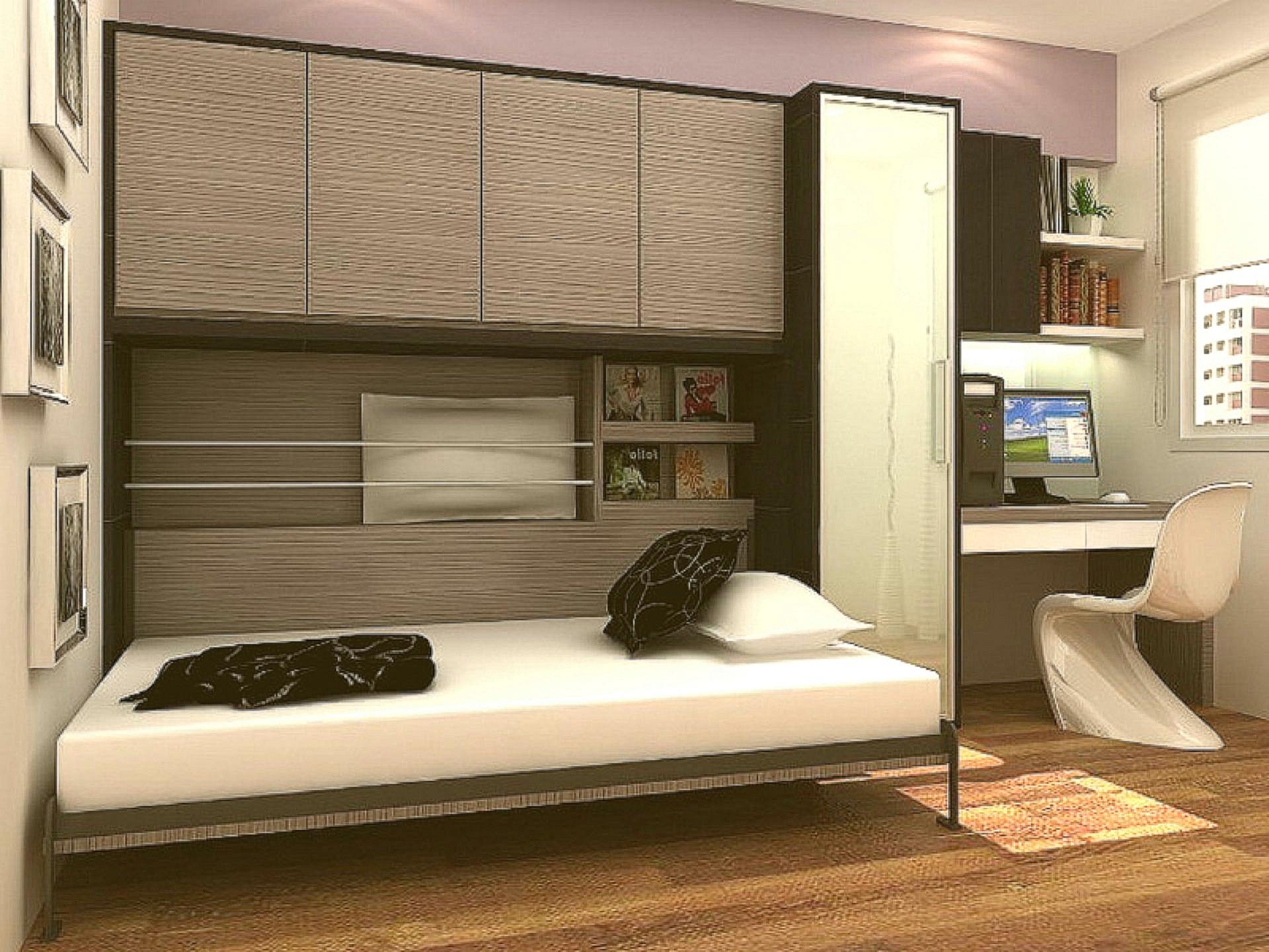 Встроенная кровать в шкаф в интерьере - фото примеров.