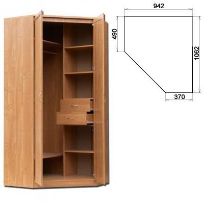 Несимметричный угловой шкаф