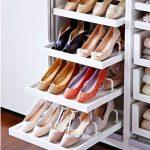 обувница с выдвижными полками