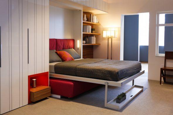Откидная кровать удобная и комфортная