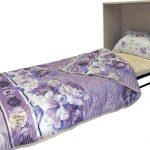 разложенный вид кровати тумбы
