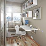 Размещение мебели в узкой детской комнате
