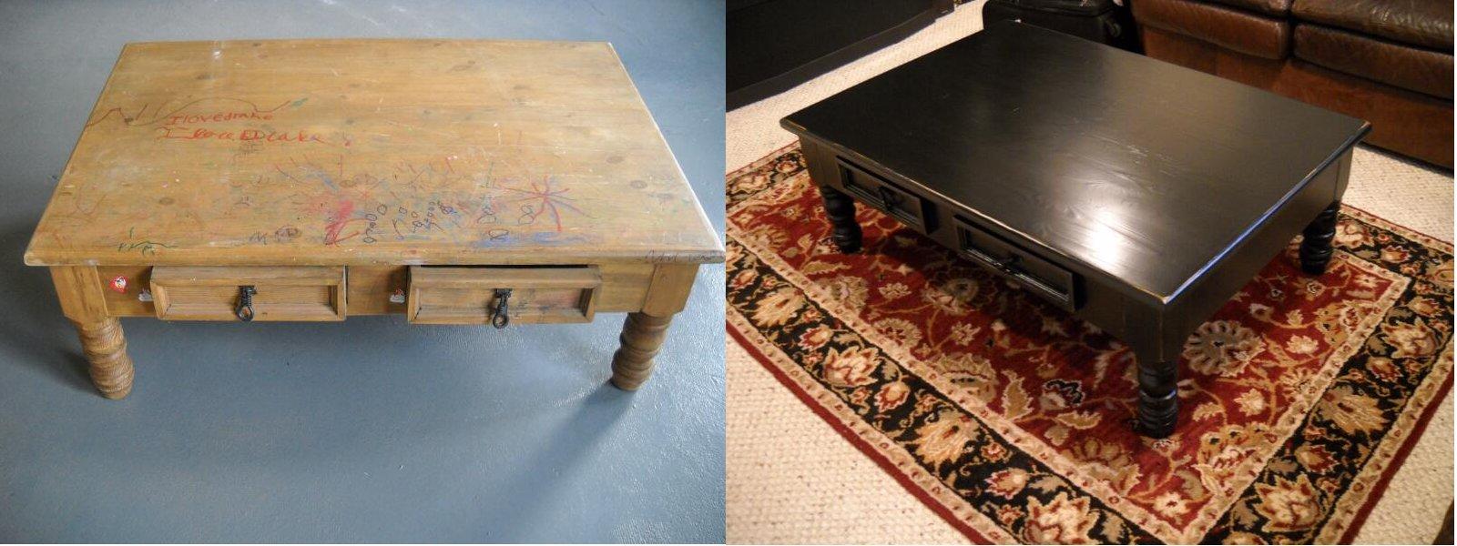 Стол  реставрация старой