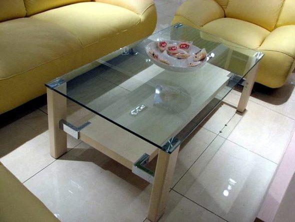 Кухонный стеклянный стол своими руками