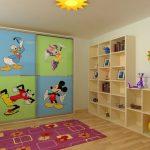 Шкаф купе для детской с героями диснея