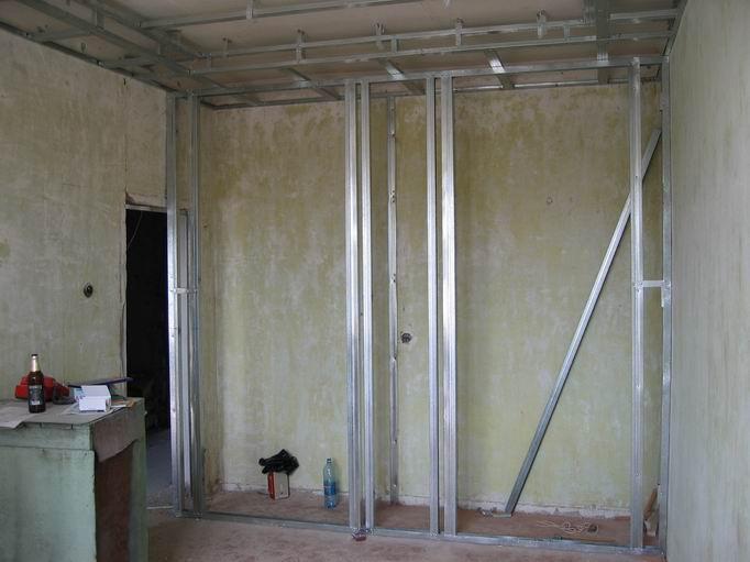 Стена для шкафа купе из гипсокартона своими руками