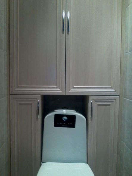 Шкаф в туалет из МДФ