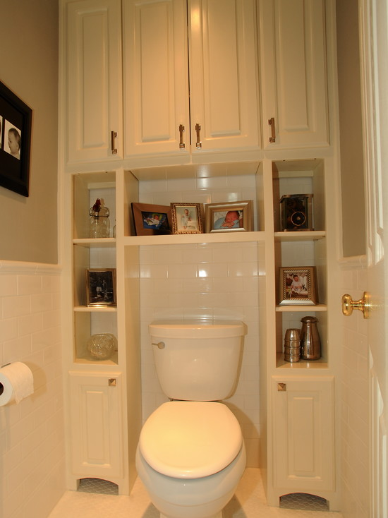 Полки в маленьком туалете своими руками 12