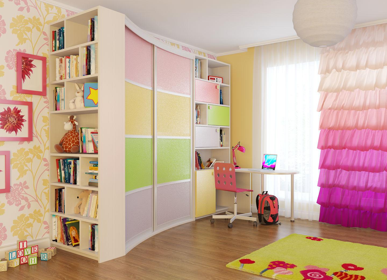 Встроенные шкафы купе в детской дизайн