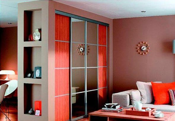 Шкафы-перегородки в декоре современной квартиры