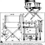 Складной стул из парусины чертеж