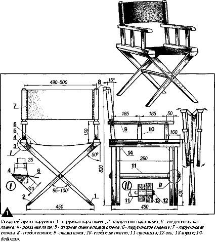 чертеж стульев для рыбалки