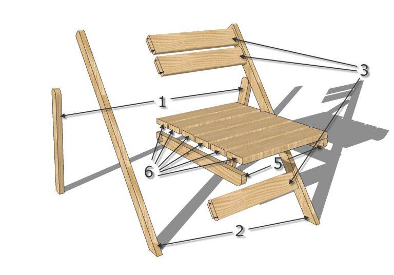 Раскладной стула своими руками