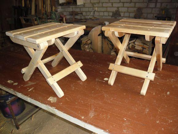 Как сделать стульчик из дерева