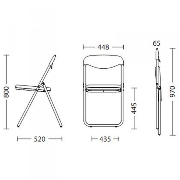 Раскладной металлический стул чертежи