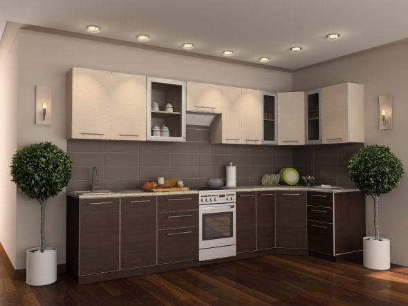 Угловой гарнитур для кухни венге