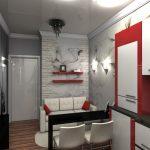 Узкая маленькая кухня