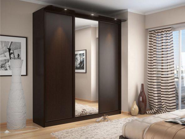 Варианты дизайна фасадов дверей шкафа-купе