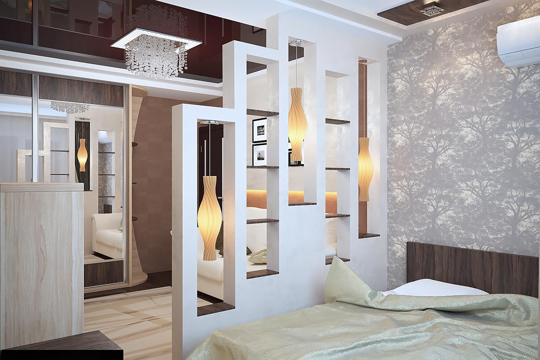Дизайн квартир с перегородками 129