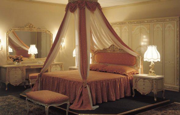 балдахин купол над кроватью