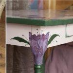 цветочный декупаж столика