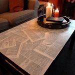 декор стола газетами