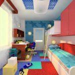 детская комната узкая и длинная