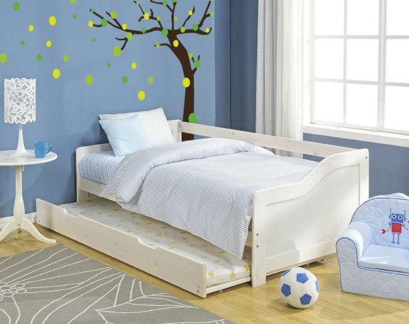 детская выдвижная кровать