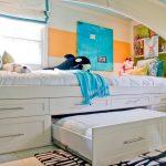 детская выдвижная кровать комод