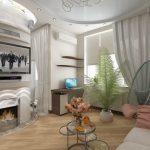 дизайн интерьера в зале