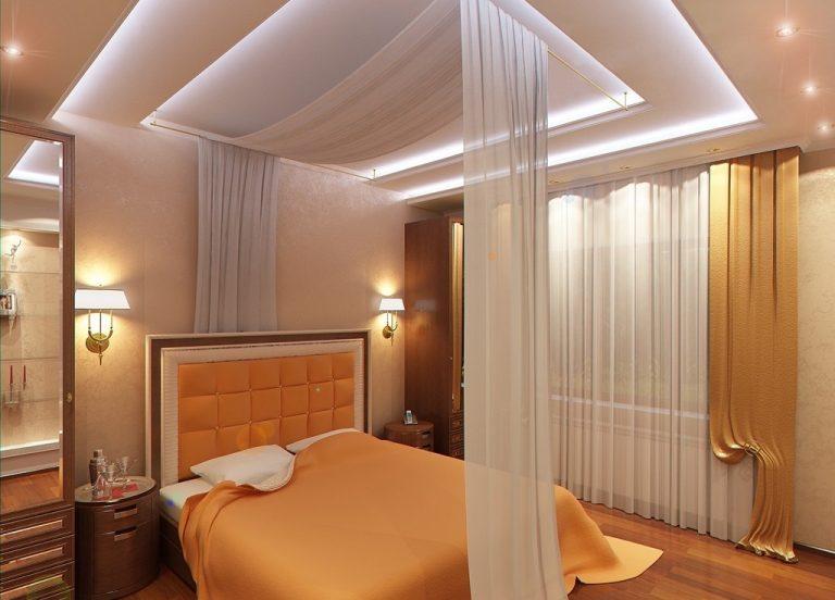 Фото дизайн потолка в спальню