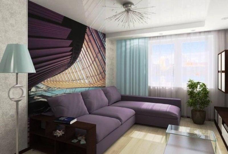 маленькая спальня с диваном