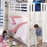 двухъярусная кровать детская белая