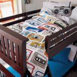 двухъярусная кровать для подростковой спальни