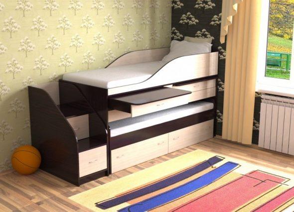 двухъярусная кровать трансформер