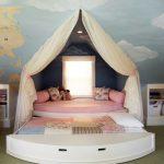 двухъярусная выдвижная кровать для девочек